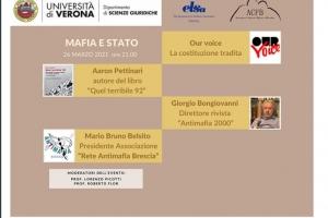 """serata dal titolo """"MAFIA E STAT0"""" venerdì 26 marzo p.v. alle ore 21.00"""